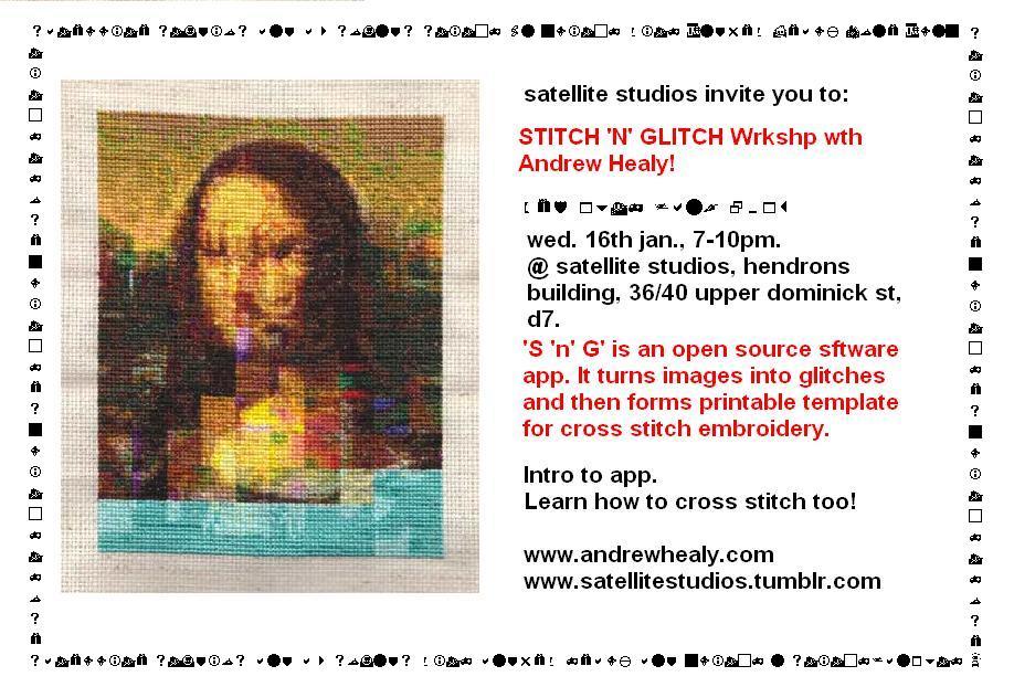 FLyer for Stitch n Glitch